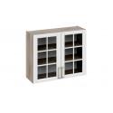 Шкаф навесной со стеклом В_72-90_2ДРс (Бежевый) 72 см