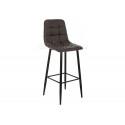 Барный стул Chio black / dark brown