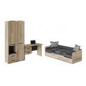 Набор детской мебели «Кристофер» №1 (Фон Серый/Олд Стайл) ГН-328.001