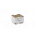 Тумба прикроватная «Квадро» (Бунратти/Белый Глянец) ТД 281.03.01