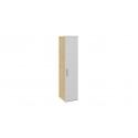 Шкаф для белья с глухой дверью «Квадро» (Бунратти/Белый глянец) СМ-281.07.001