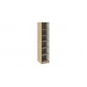 Шкаф для белья с зеркальной дверью левый «Квадро» (Бунратти/Белый глянец) СМ-281.07.002