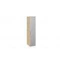 Шкаф для белья с зеркальной дверью правый «Квадро» (Бунратти/Белый глянец) СМ-281.07.002