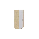 Шкаф угловой с глухой дверью «Квадро» (Бунратти/Белый глянец) СМ-281.07.006