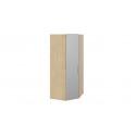 Шкаф угловой с зеркальной дверью левый «Квадро» (Бунратти/Белый глянец) СМ-281.07.007