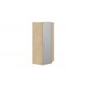 Шкаф угловой с зеркальной дверью правый «Квадро» (Бунратти/Белый глянец) СМ-281.07.007