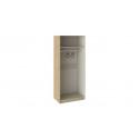 Шкаф для одежды с 2-мя глухими дверями «Квадро» (Бунратти/Белый глянец) СМ-281.07.003