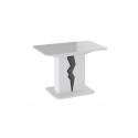 Стол раздвижной «Шеффилд» исп. 2 ПМ 203.11 исп.2 (Белый глянец/Камень)