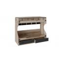 Кровать двухъярусная «Окланд» ТД-324.11.01 (Фон Черный/Дуб Делано)