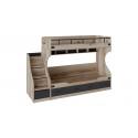 Кровать двухъярусная с приставной лестницей «Окланд» СМ-324.11.001 (Фон Черный/Дуб Делано)