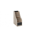 Лестница приставная с ящиками «Окланд» ТД-324.11.12 (Фон Черный/Дуб Делано)