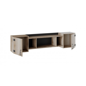 Шкаф навесной «Окланд» ТД-324.12.21 (Фон Черный/Дуб Делано)