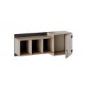 Шкаф навесной «Окланд» ТД-324.15.11 (Фон Черный/Дуб Делано)