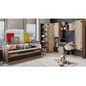 Набор детской мебели «Окланд» №2 ГН 324.002 (Фон Черный/Дуб Делано)