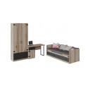 Набор детской мебели «Окланд» стандартный ГН 324.000 (Фон Черный/Дуб Делано)