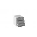 Тумба прикроватная с 3 ящиками «Синди» (Белый глянец/Дуб Гамильтон)