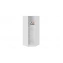 Шкаф угловой с 1 зеркальной дверью «Синди» СМ-320.07.315 (Белый глянец/Белый глянец)