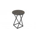 Стол со стеклянной поверхностью (журнальный) ДП 1-03-05 (Черный/Стекло с рисунком Coffe)