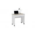 Стол компьютерный «Diamond» тип 2 (Дуб Сонома/Белый)