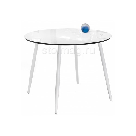 Стеклянный стол Анселм белый