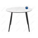 Стеклянный стол Анселм белый / черный