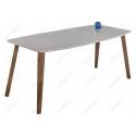 Стеклянный стол Серсея грей / орех кантри