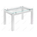 Стеклянный стол Бран белое дерево