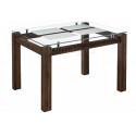 Стеклянный стол Бран орех кантри