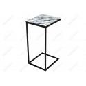 Журнальный столик Геркулес белый мрамор