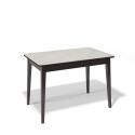 Стол обеденный Kenner 1100 М венге/стекло крем