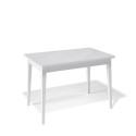 Стол обеденный Kenner 1100 М белый/стекло белое сатин