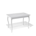 Стол обеденный Kenner 1100 С белый/стекло белое