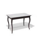 Стол обеденный Kenner 1100 С венге/стекло белое
