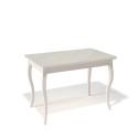 Стол обеденный Kenner 1100 С крем/стекло крем