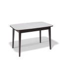 Стол обеденный Kenner 1200 М венге/стекло белое