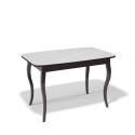 Стол обеденный Kenner 1200 С венге/стекло белое глянец
