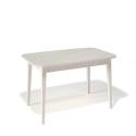 Стол обеденный Kenner 1200 М крем/стекло крем глянец