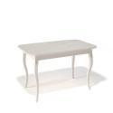 Стол обеденный Kenner 1200 С крем/стекло крем сатин