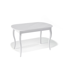 Стол обеденный Kenner 1300 C белый/стекло белое сатин