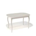 Стол обеденный Kenner 1300 C крем/стекло крем сатин