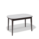 Стол обеденный Kenner 1300 М венге/стекло белое глянец