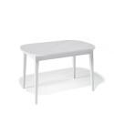 Стол обеденный Kenner 1300 М белый/стекло белое сатин