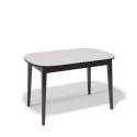 Стол обеденный Kenner 1300 М венге/стекло белое сатин