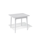Стол обеденный Kenner 900 М белый/стекло белое глянец