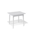 Стол обеденный Kenner 900 М белый/стекло белое сатин