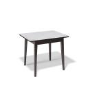 Стол обеденный Kenner 900 М венге/стекло белое глянец