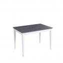 Стол обеденный Kenner Q1200 белый/ясень графит