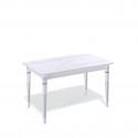 Стол обеденный Kenner CA1300, белый/дуб белый