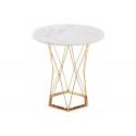 Стол Melan white / gold