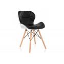 Деревянный стул PC-027 black / white